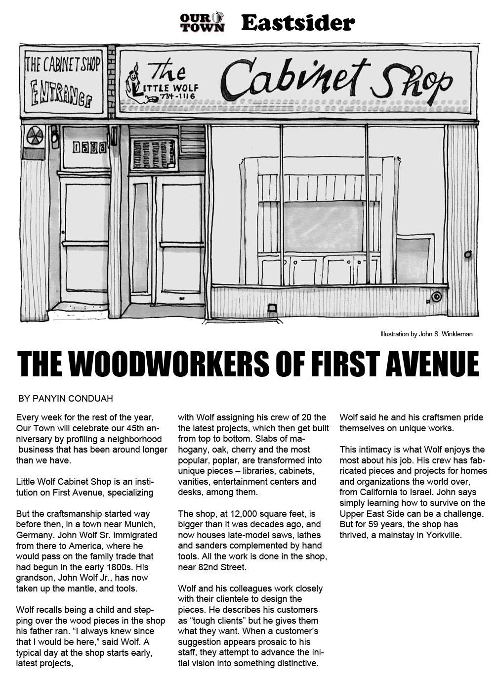 Welcome To The Little Wolf Cabinet Shop   New York